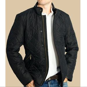 Barbour Black Powell Quilted Jacket